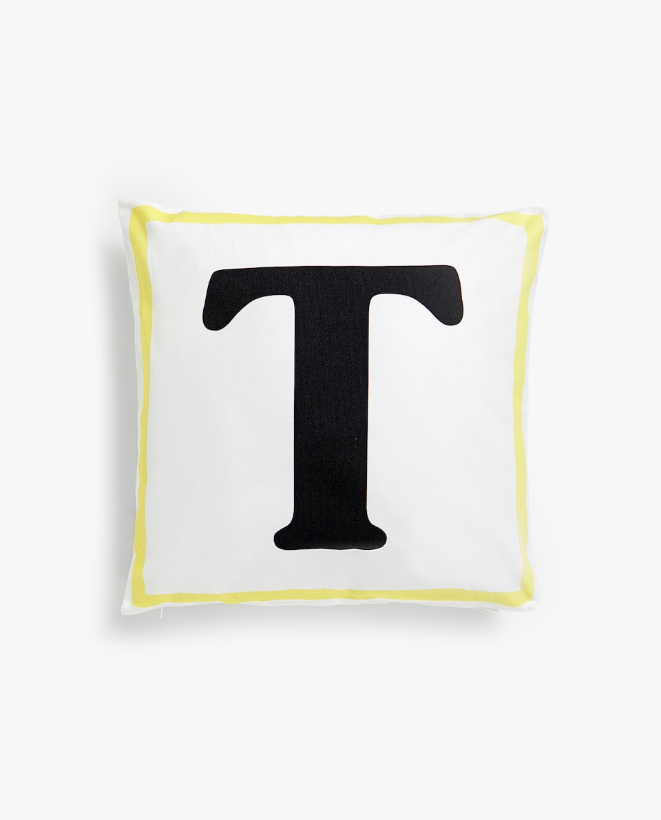 LETTER 'T' CUSHION COVER