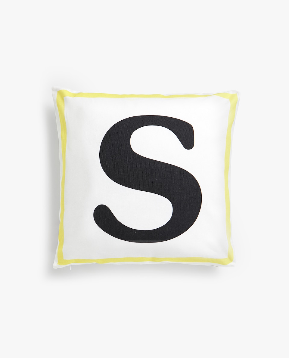 LETTER 'S' CUSHION COVER
