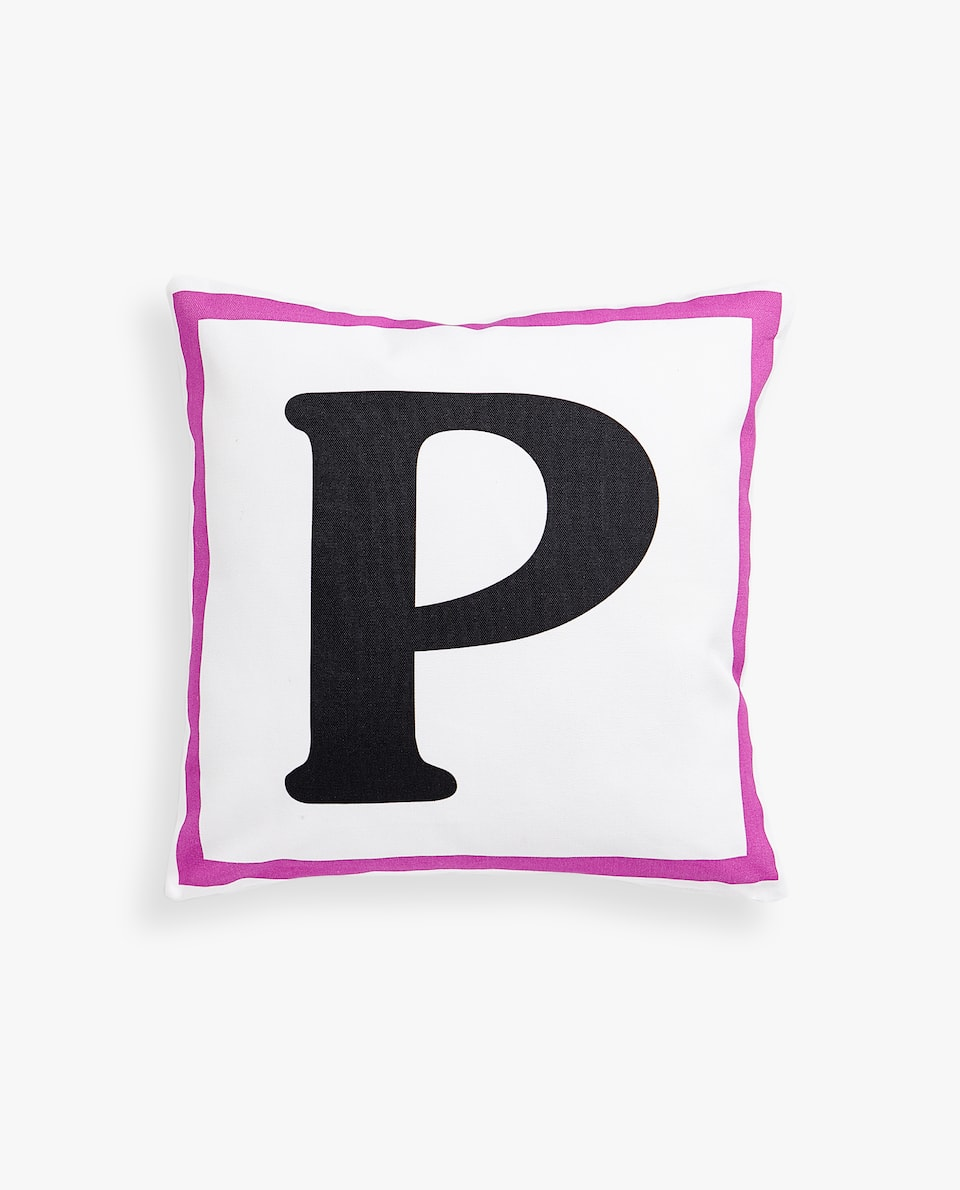 LETTER 'P' CUSHION COVER