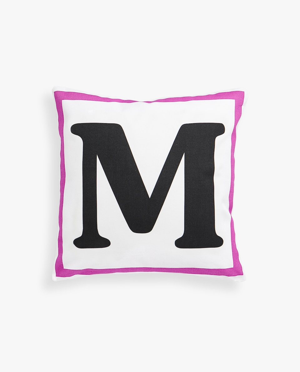 LETTER 'M' CUSHION COVER
