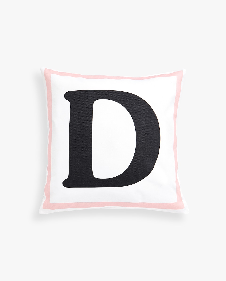 LETTER 'D' CUSHION COVER