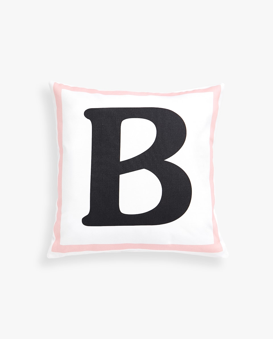 LETTER 'B' CUSHION COVER