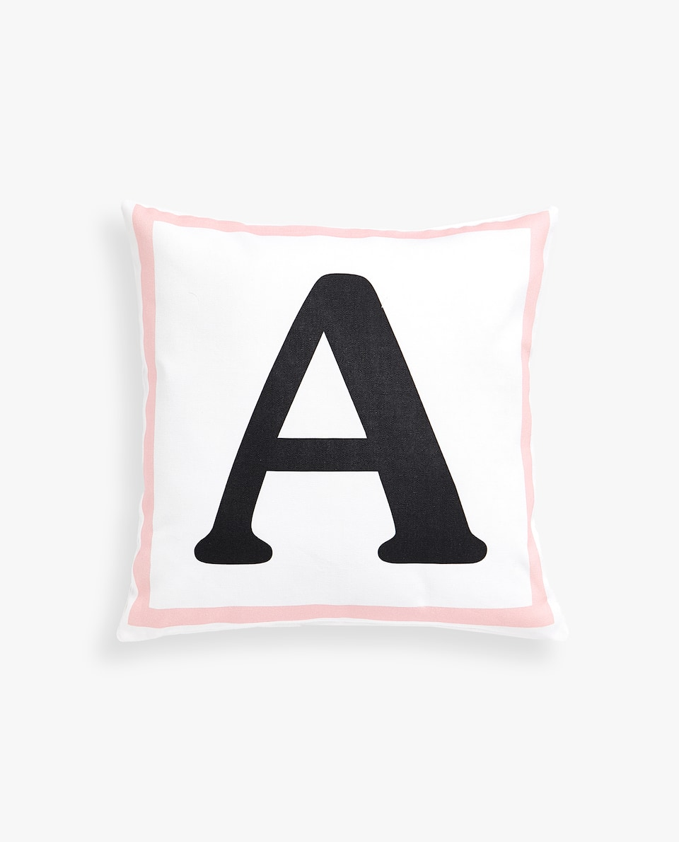 LETTER 'A' CUSHION COVER