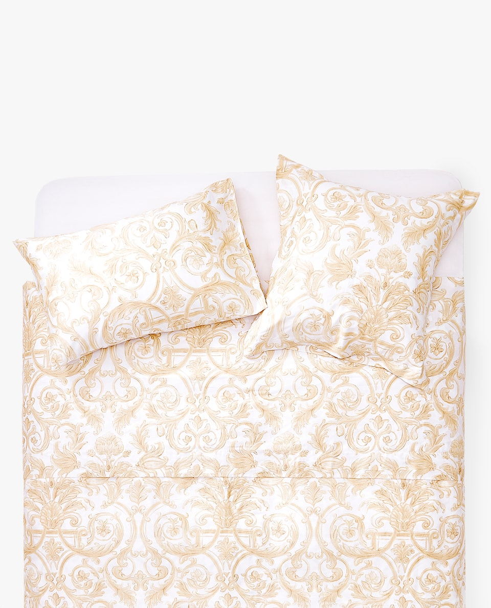 DECORATIVE PRINT SATEEN DUVET COVER