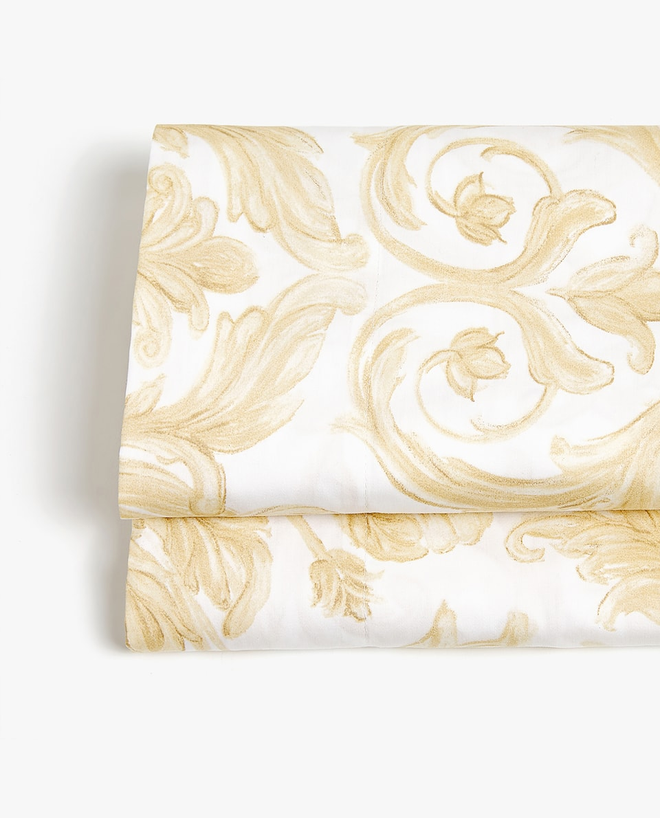 DECORATIVE PRINT SATEEN FLAT SHEET