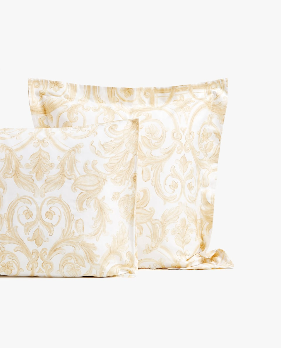 DECORATIVE PRINT SATEEN PILLOWCASE