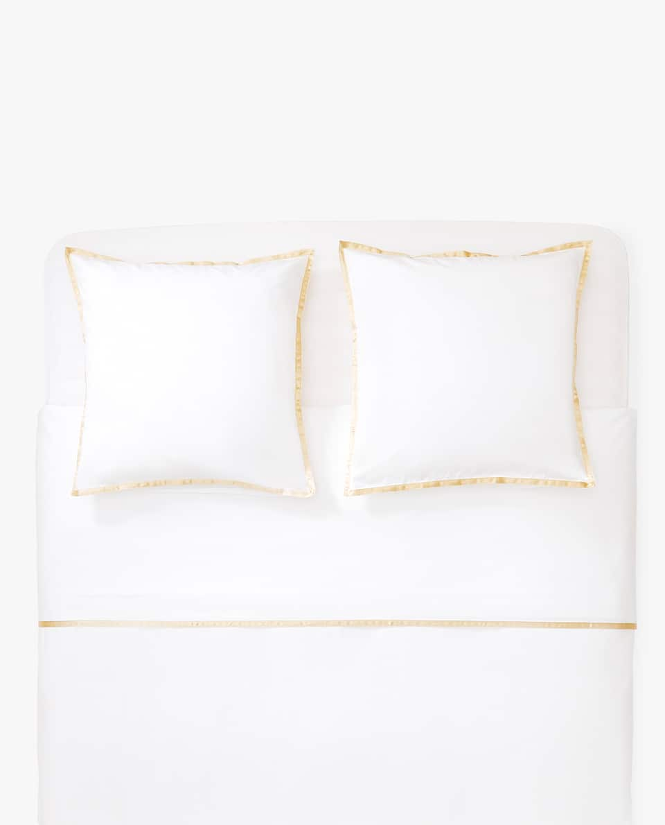 DUVET COVER WITH SATEEN RIBBON