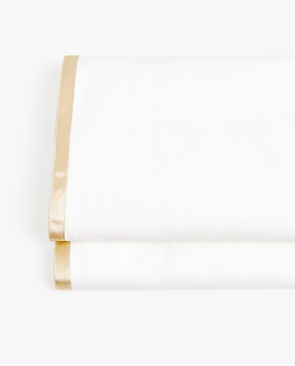 Cotton Sateen Flat Sheet by Zara Home