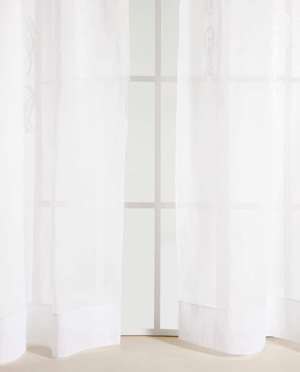 EMBROIDERED ORGANZA CURTAIN