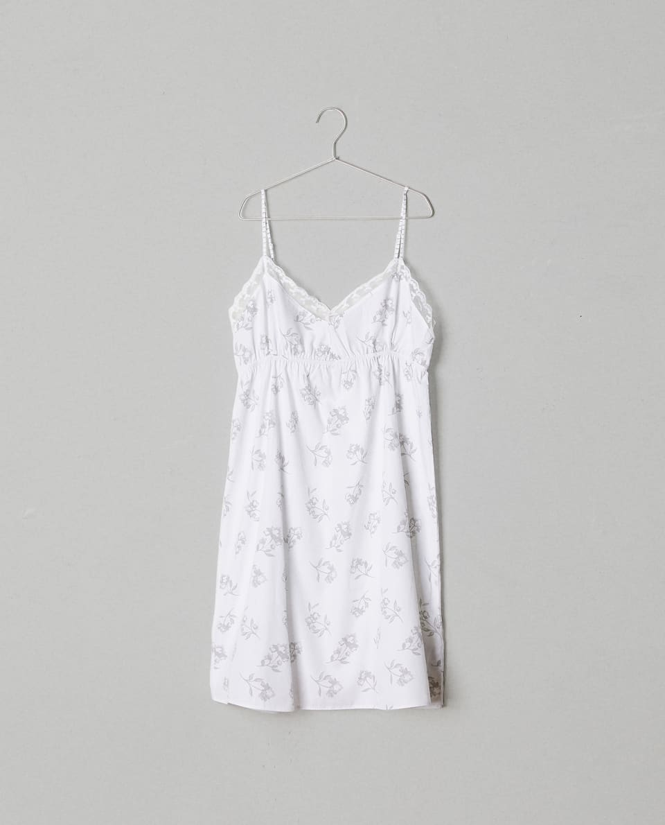PRINTED COTTON NIGHTDRESS
