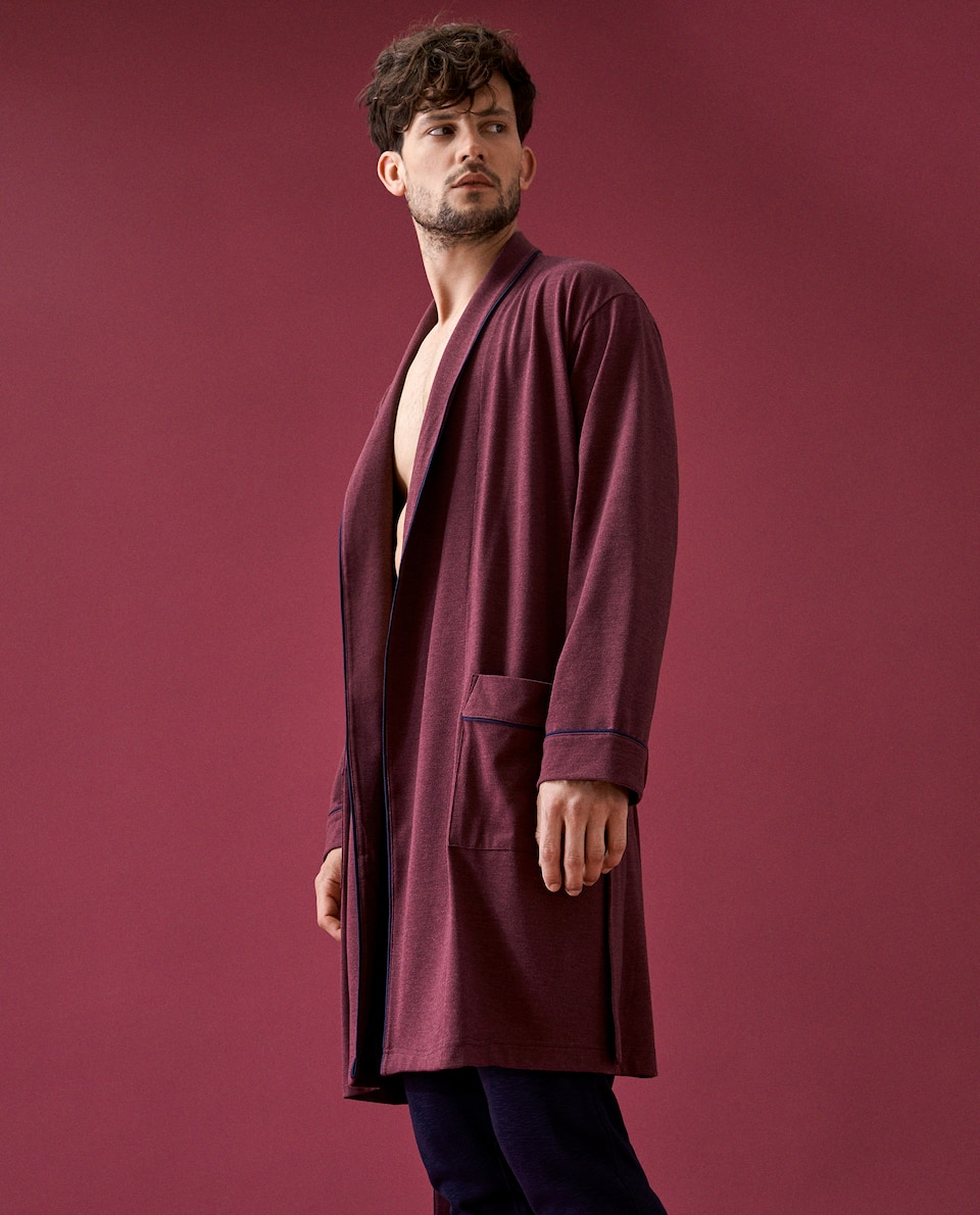 DRESSING GOWN WITH BORDER