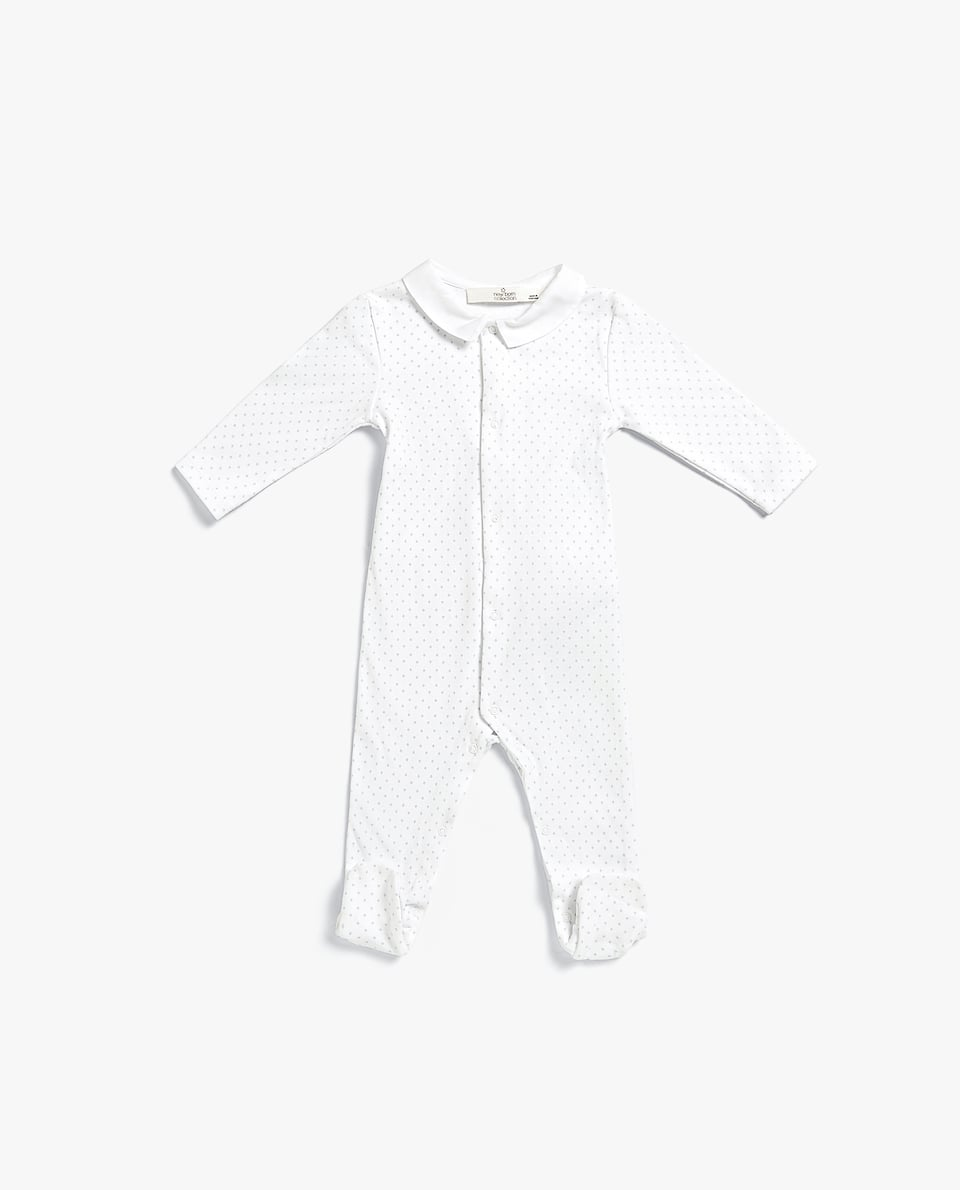 PRINTED ROMPER SUIT WITH COLLAR