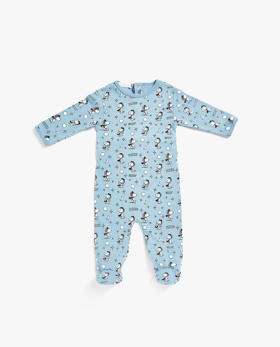 COTTON JERSEY SNOOPY ROMPER SUIT
