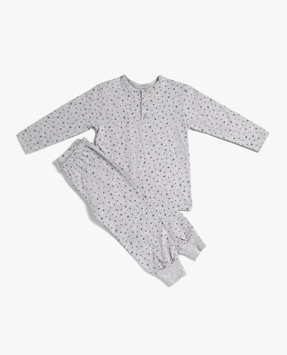 SET OF COTTON JERSEY STAR PRINT PYJAMAS