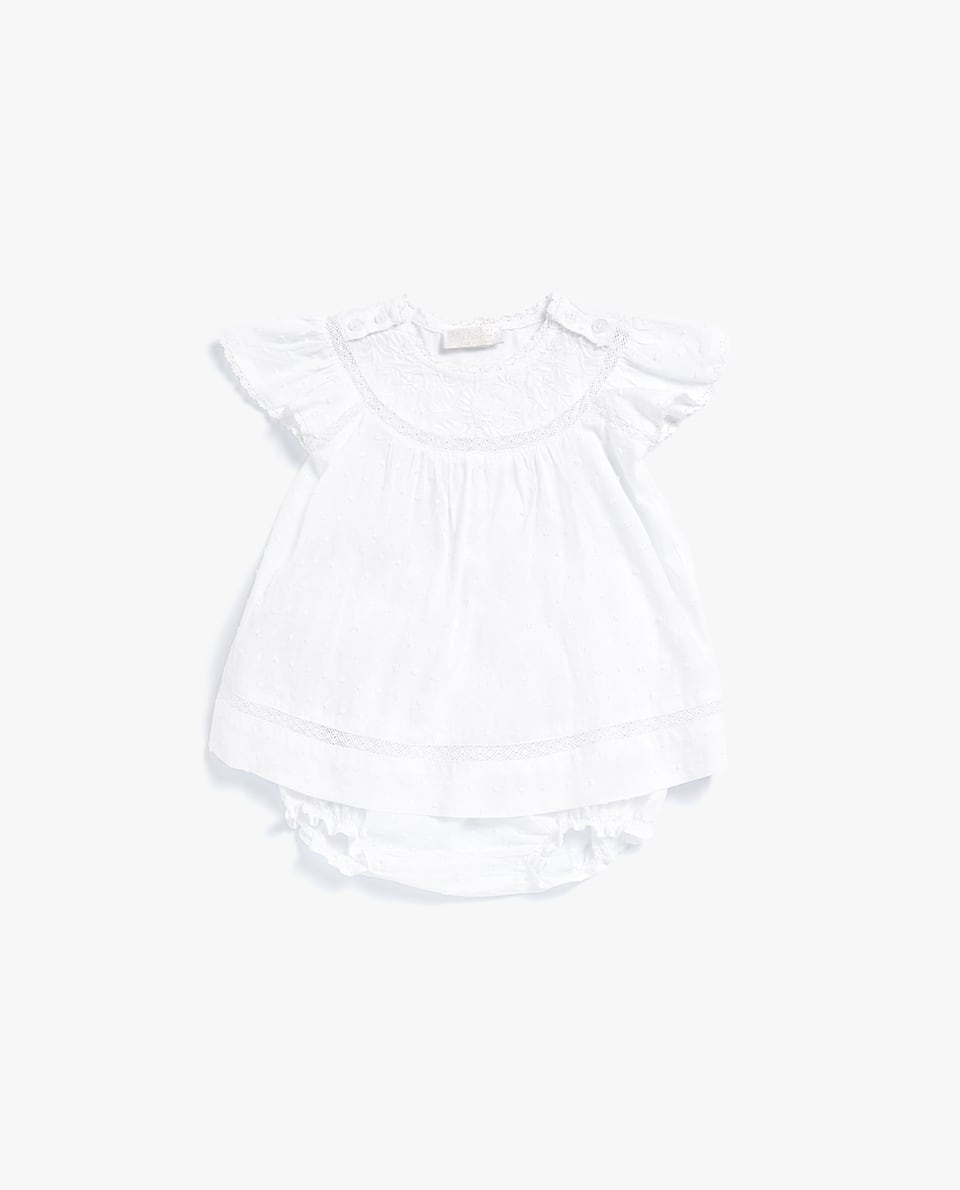 PLUMETIS BABY SET WITH EMBROIDERY