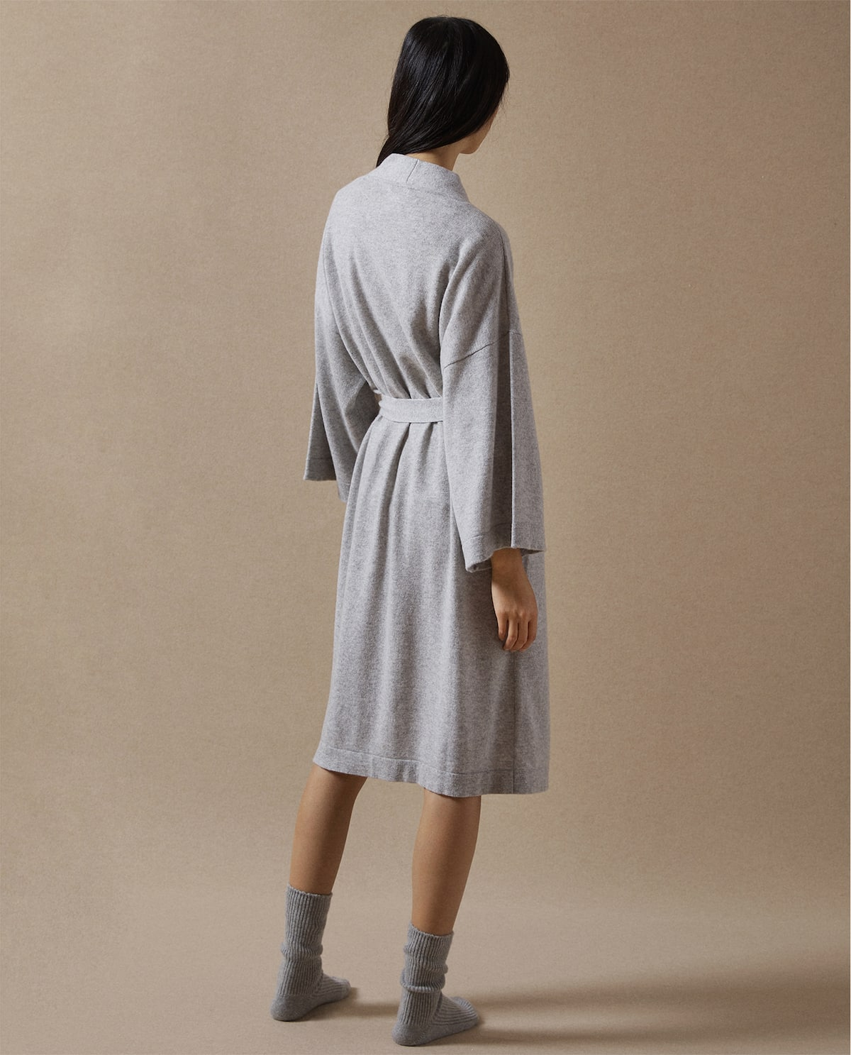 CASHMERE DRESSING GOWN WITH BELT - shop the collection - TIMELESS ...
