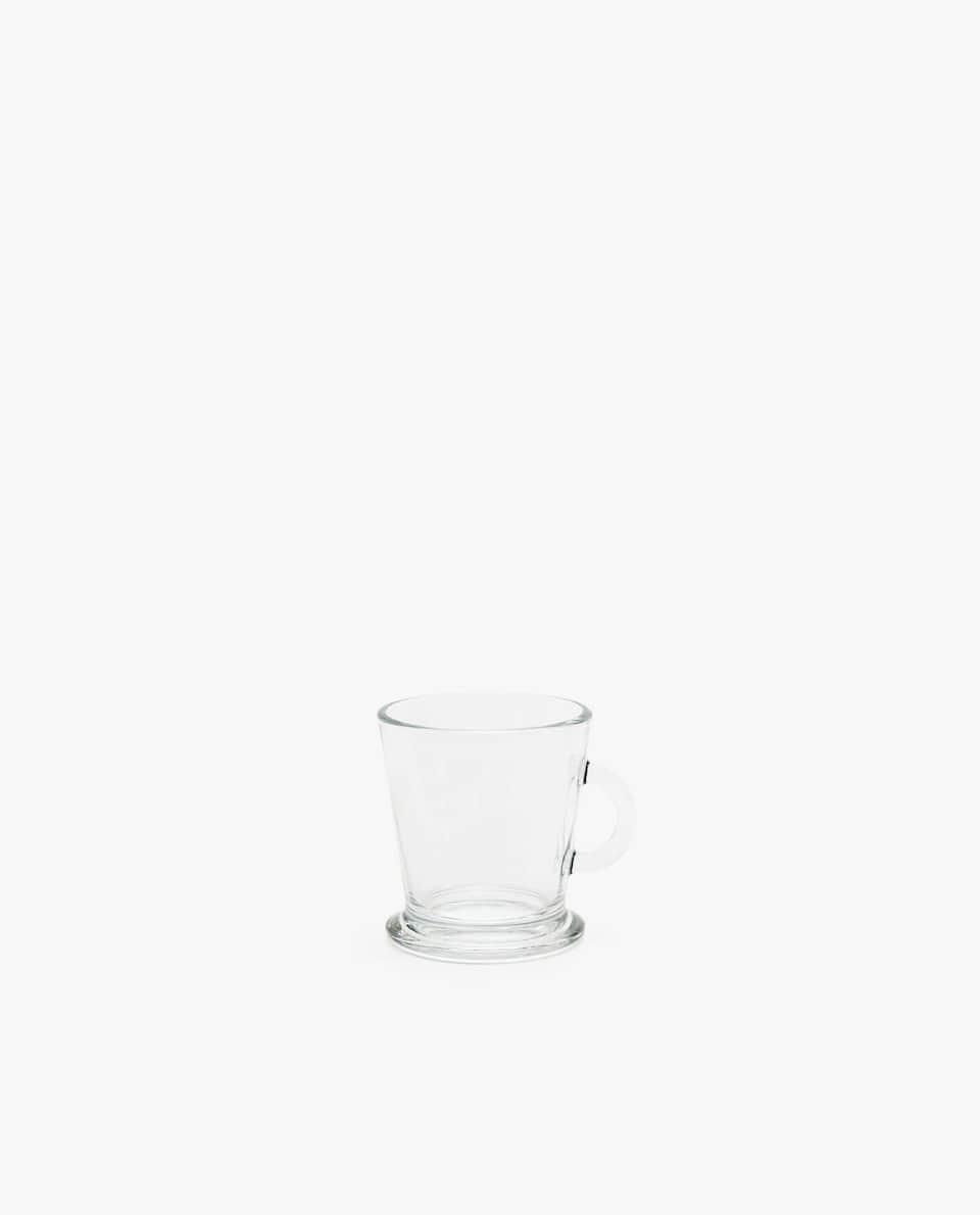 TRANSPARENT GLASS ESPRESSO CUP
