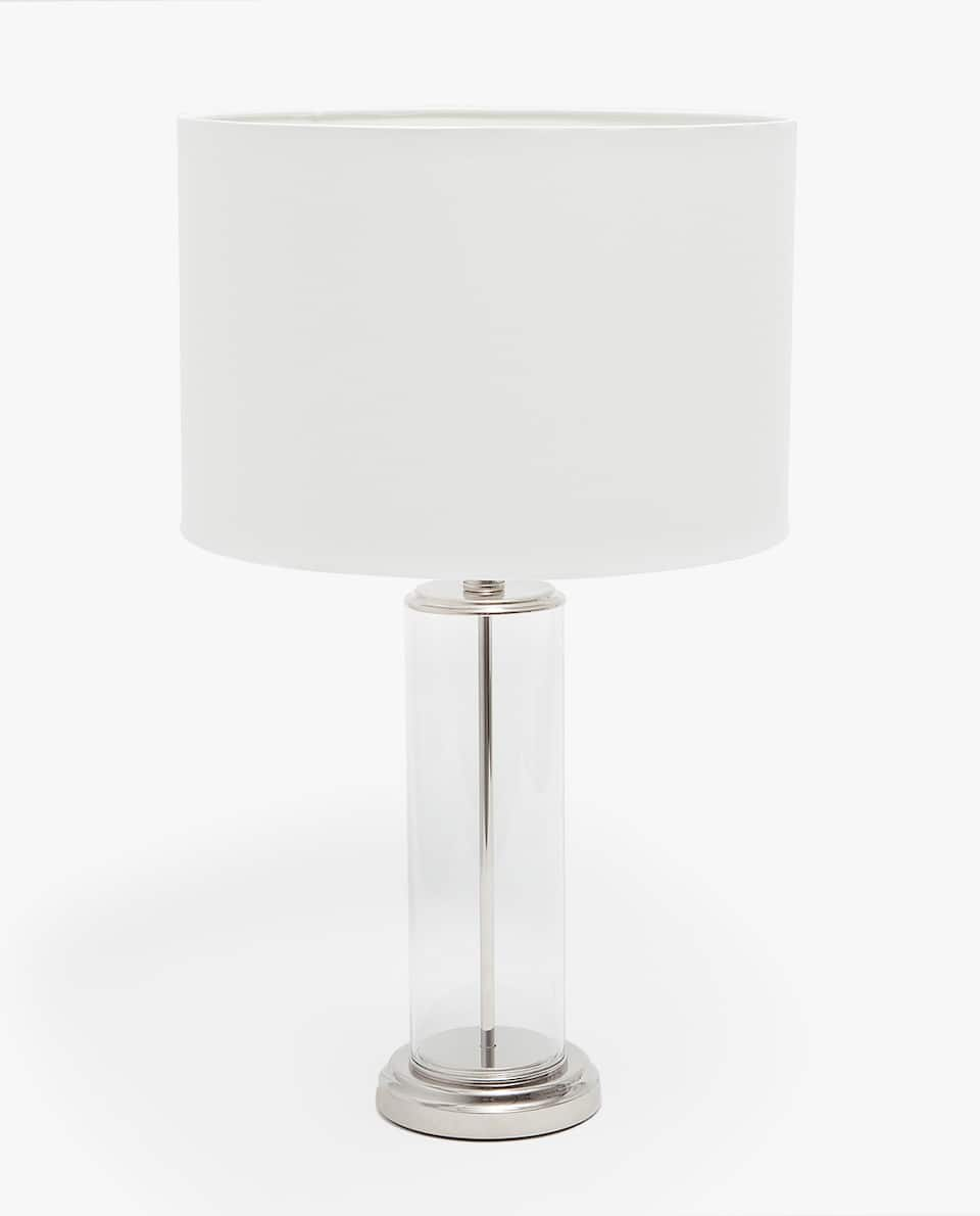 LAMP WITH GLASS COLUMN