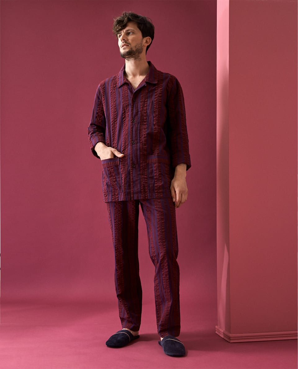 SEERSUCKER COTTON PYJAMAS