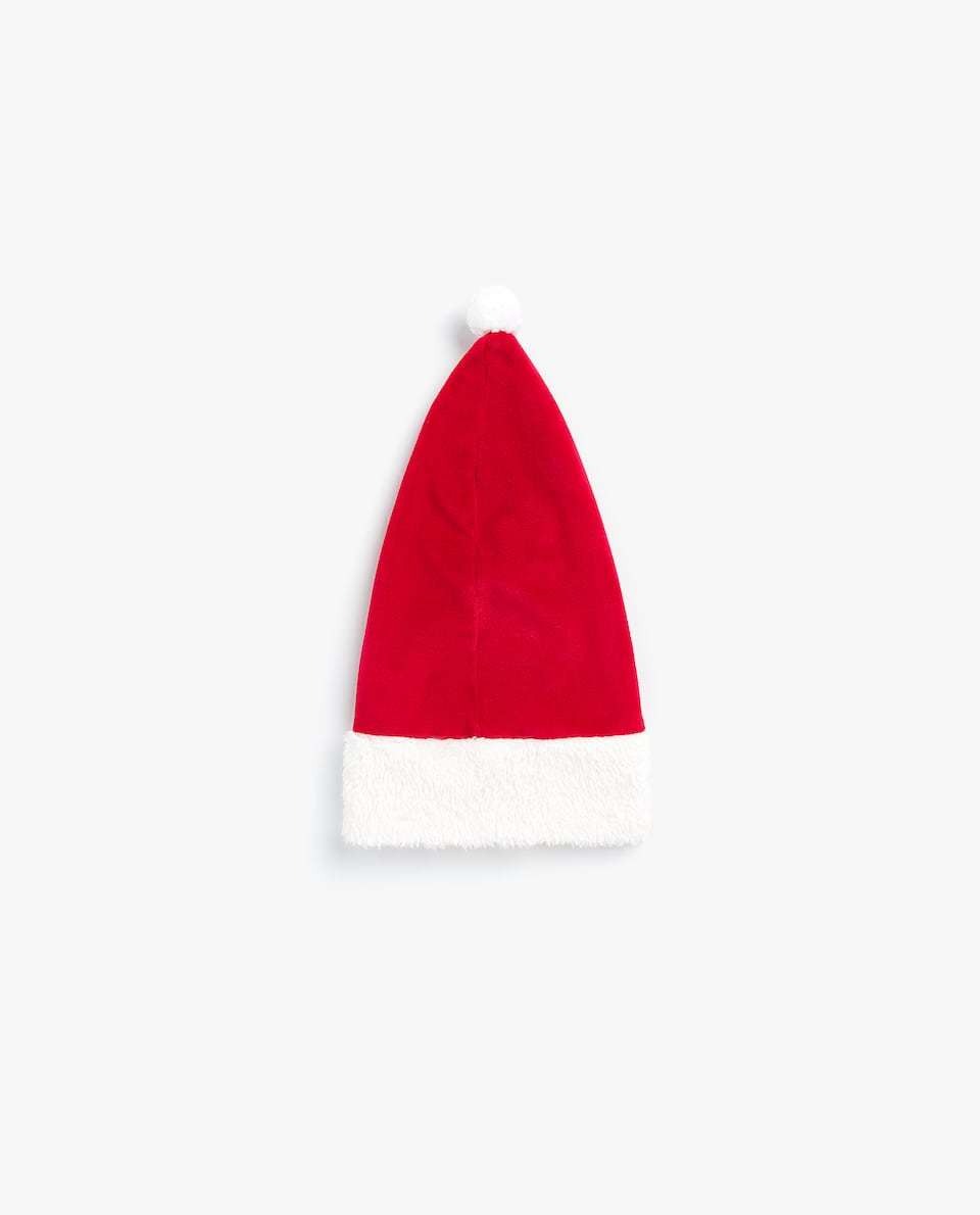 VELOUR FATHER CHRISTMAS HAT