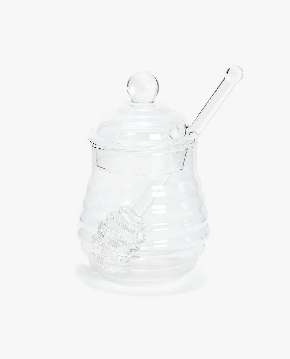 BOROSILICATE GLASS HONEY JAR