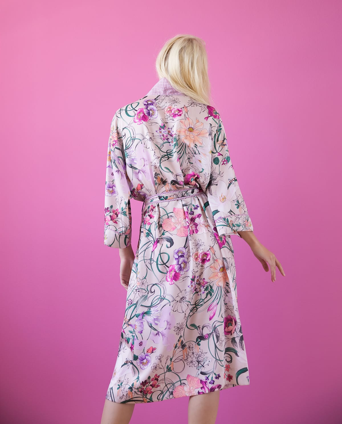 FLORAL DRESSING GOWN - DRESSING GOWNS - WOMEN\'S LOUNGEWEAR ...