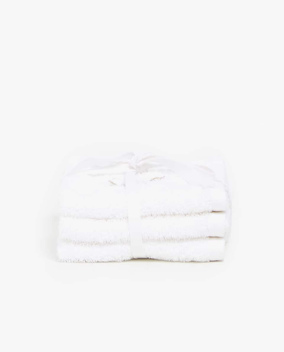 CHRISTMAS EMBROIDERY GUEST TOWEL (PACK OF 3)