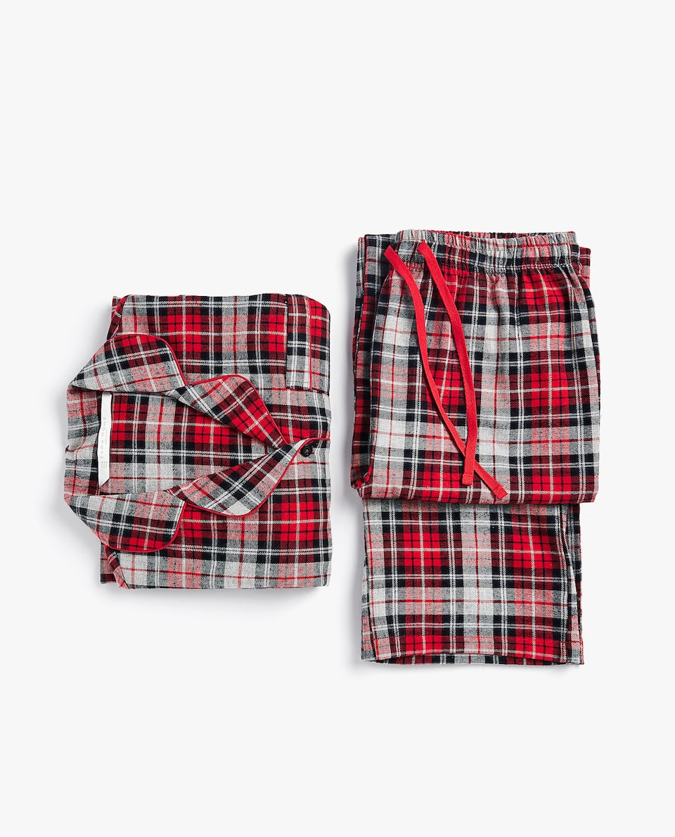 CHECKED FLANNEL PYJAMA SET