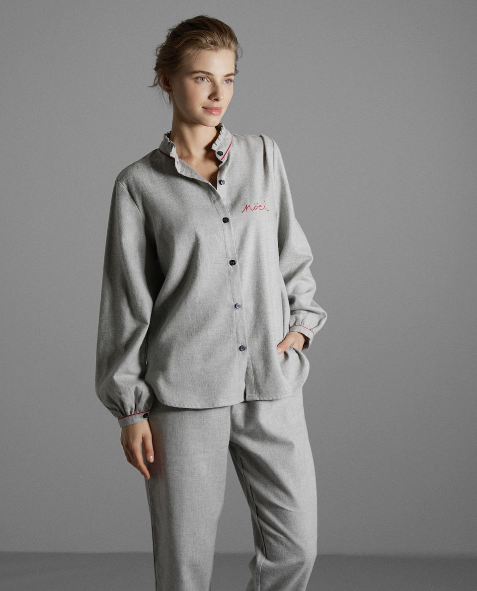 GREY FLANNEL PYJAMA SET