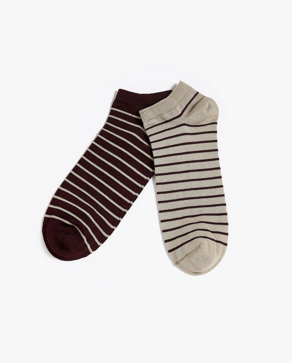 STRIPED SOCKS (PACK OF 2)