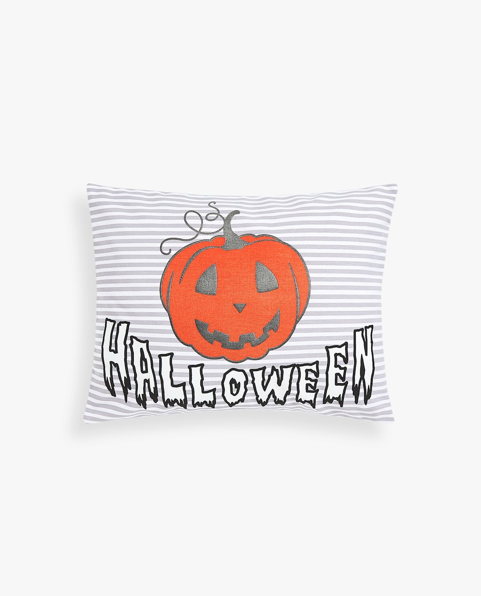 NEON HALLOWEEN PRINT CUSHION COVER