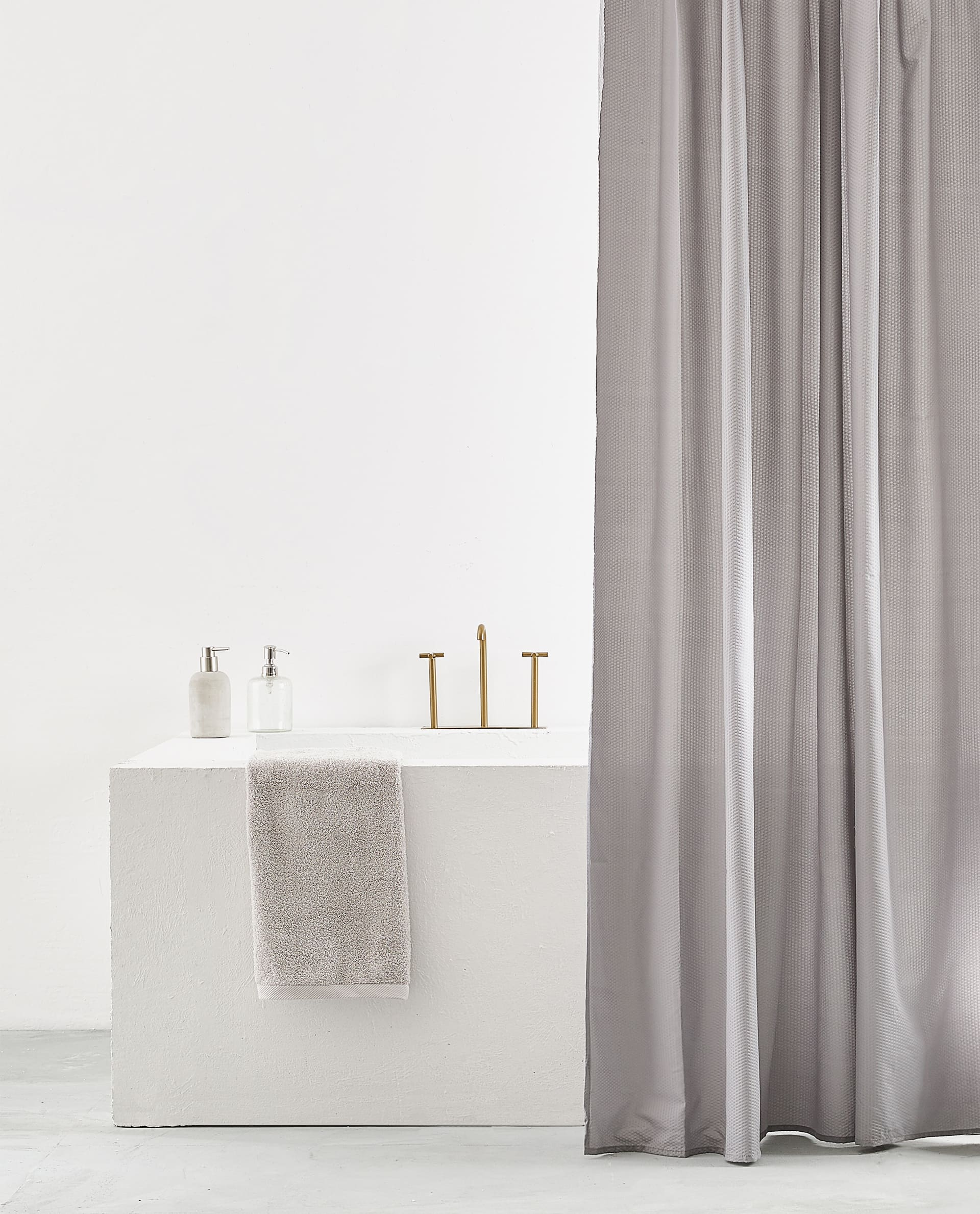 Seersucker Print Shower Curtain Zara Home United Kingdom