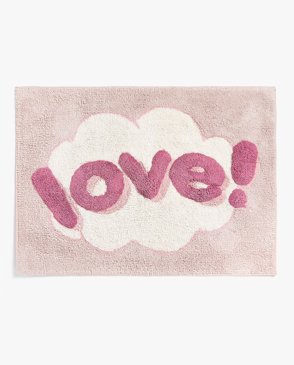 BATH MAT WITH SLOGAN