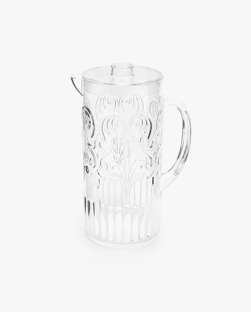 RAISED DESIGN TRANSPARENT PITCHER