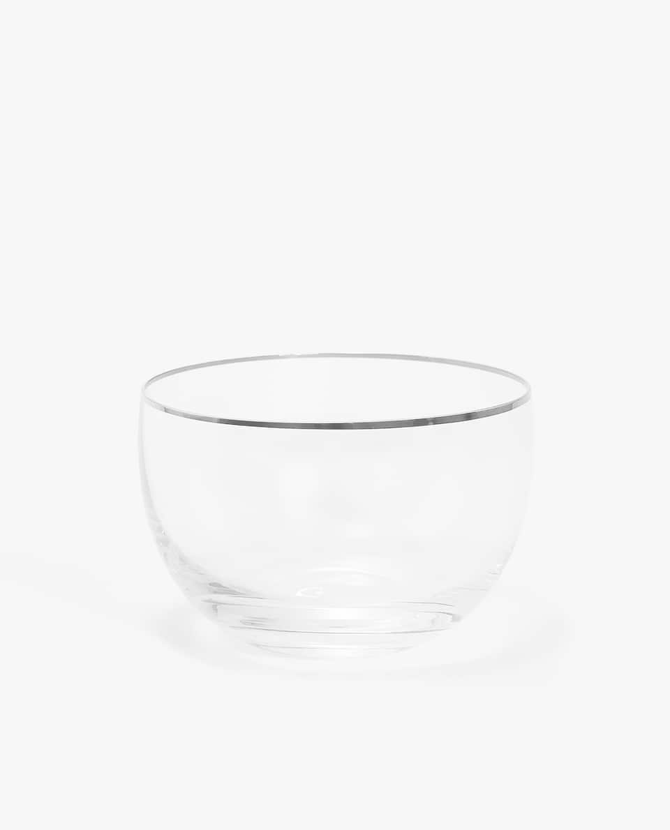 RIMMED GLASS BOWL