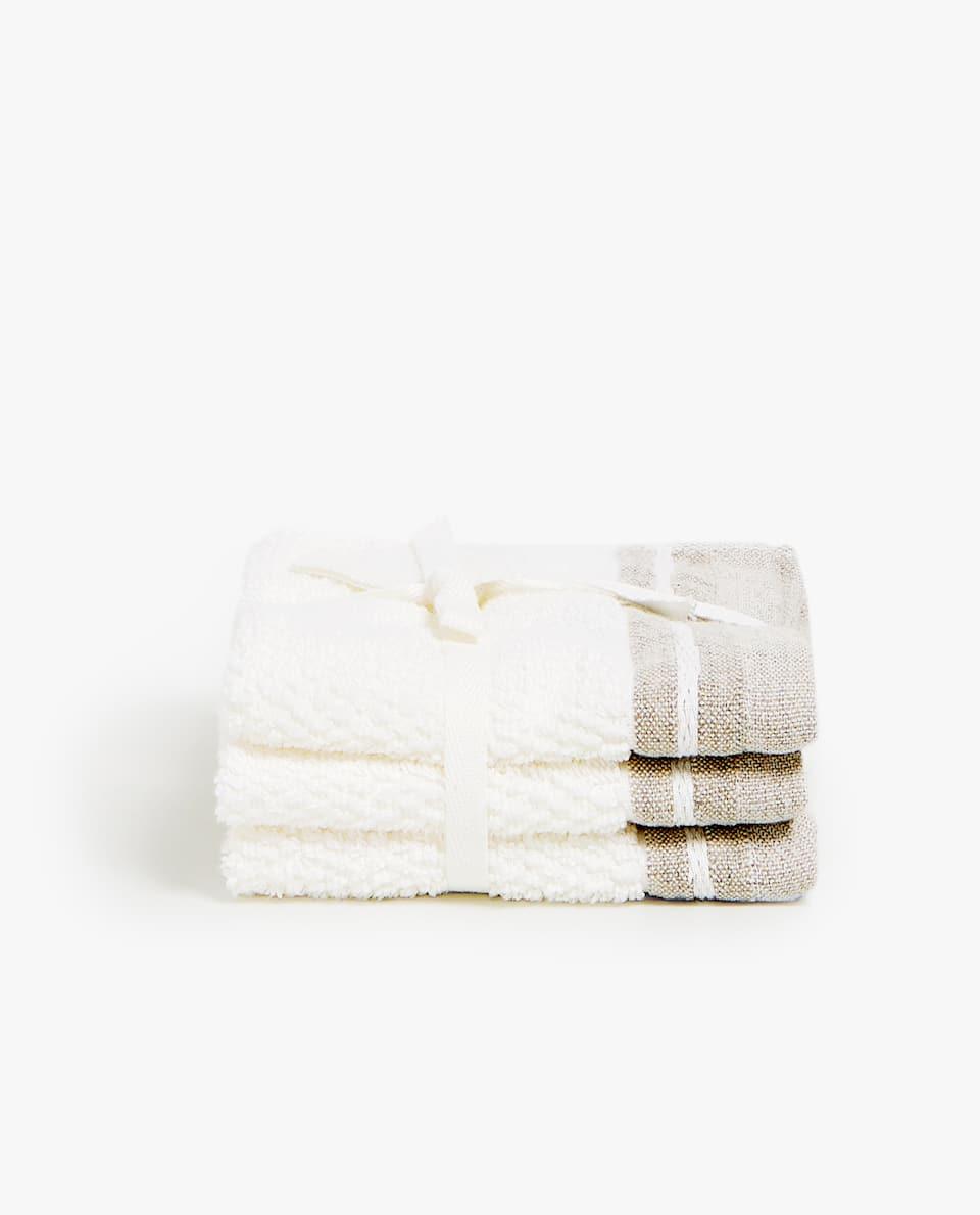 LINEN BORDER TOWEL (SET OF 3)