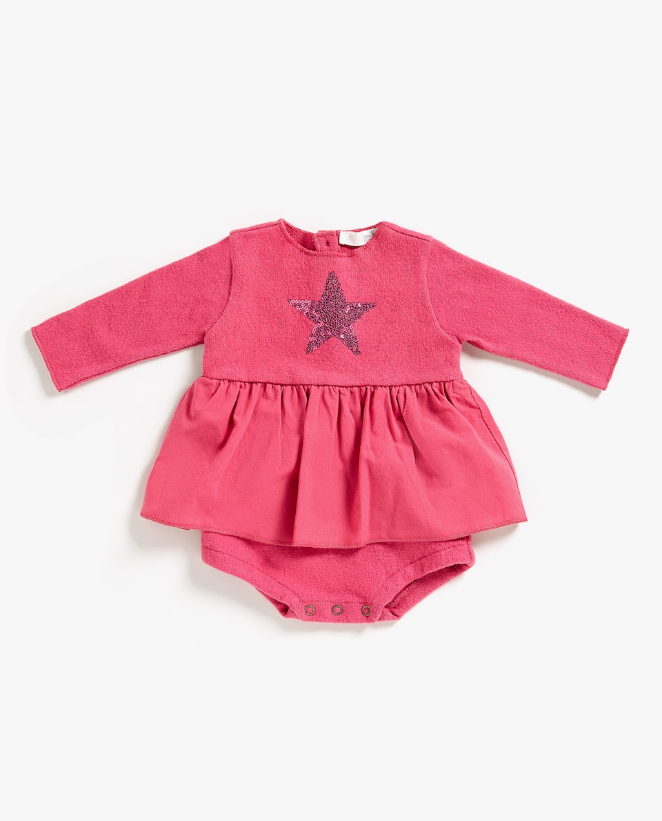 STAR EMBROIDERY ROMPER SUIT