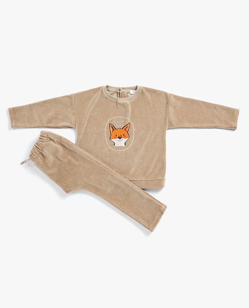 VELOUR FOX SWEATSHIRT