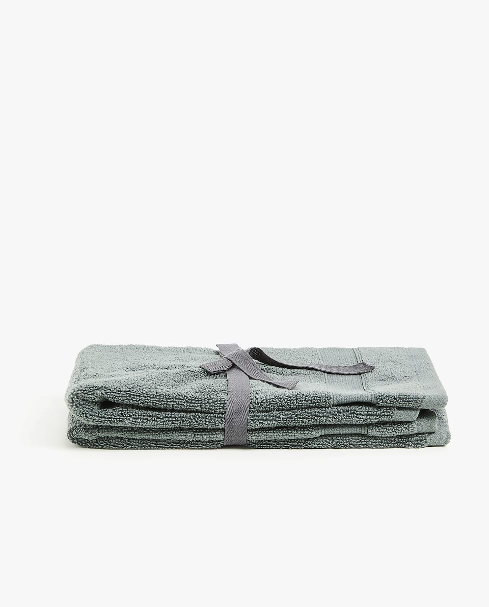 SOFT TOWEL WITH JACQUARD STRIPE (SET OF 2)