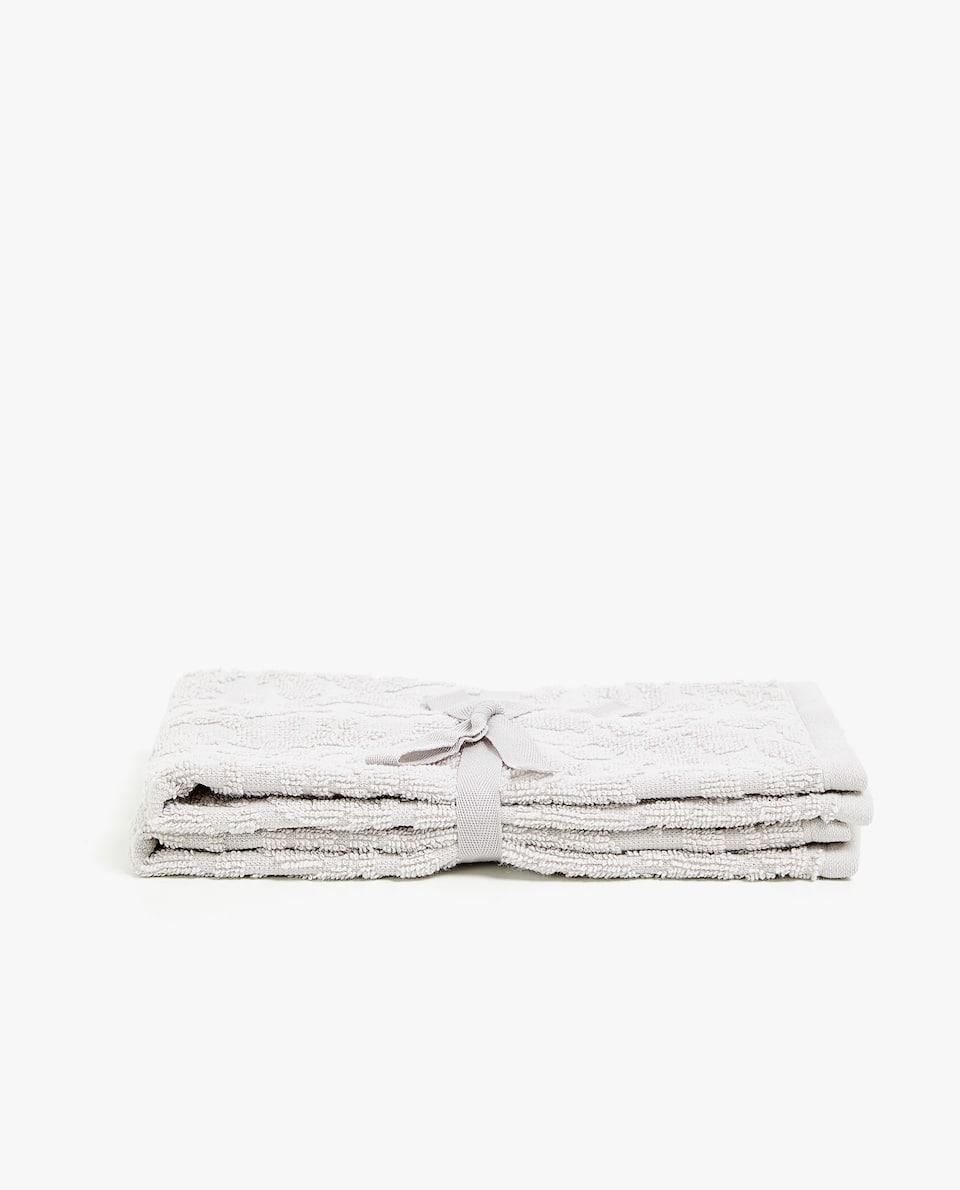 FLORAL JACQUARD TOWEL (SET OF 2)