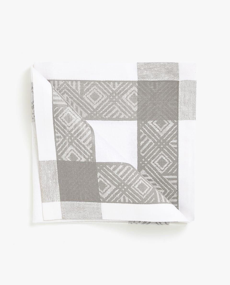 GEOMETRIC JACQUARD NAPKIN (PACK OF 4)