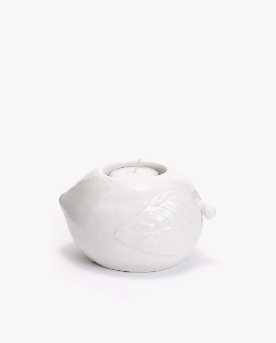 LEMON PORCELAIN TEALIGHT HOLDER