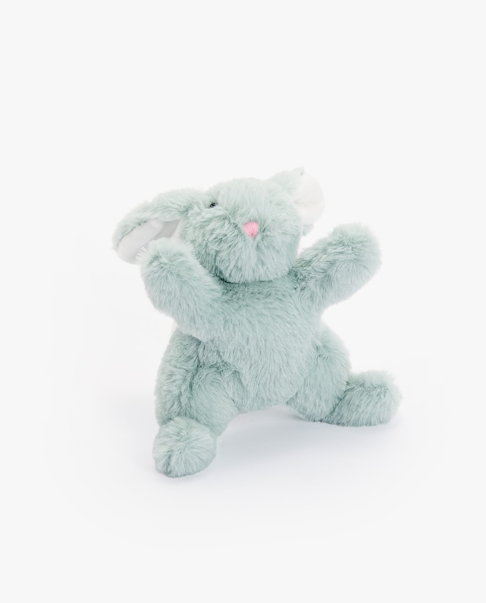 RECLINING BUNNY SOFT TOY
