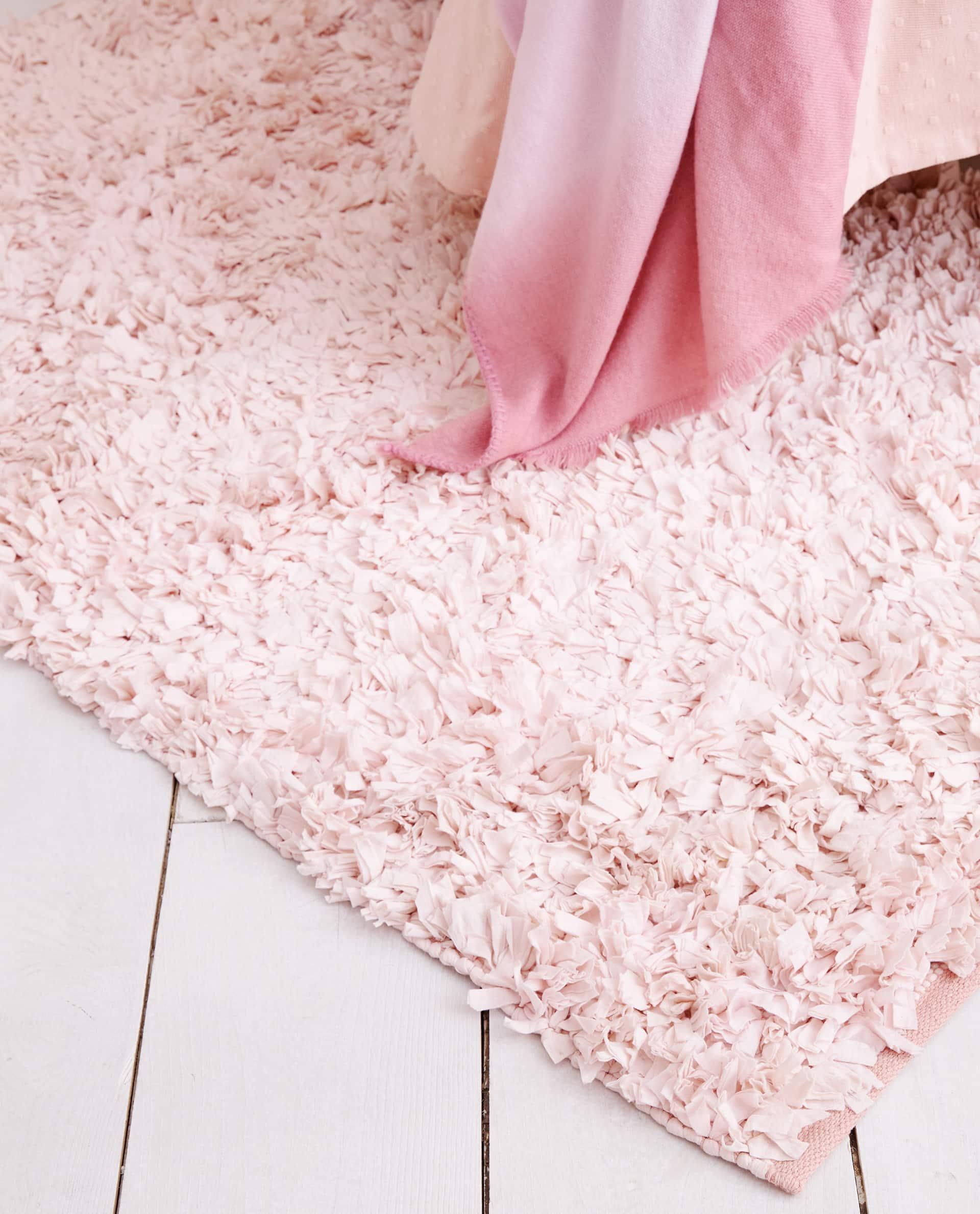 Struppiger Teppich In Rosa Teppiche Dekoration Kinder Zara