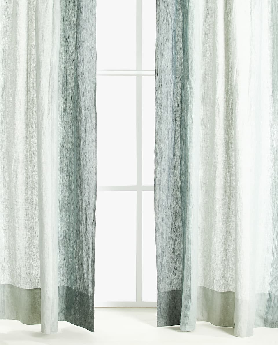 STRIPED LINEN CURTAIN