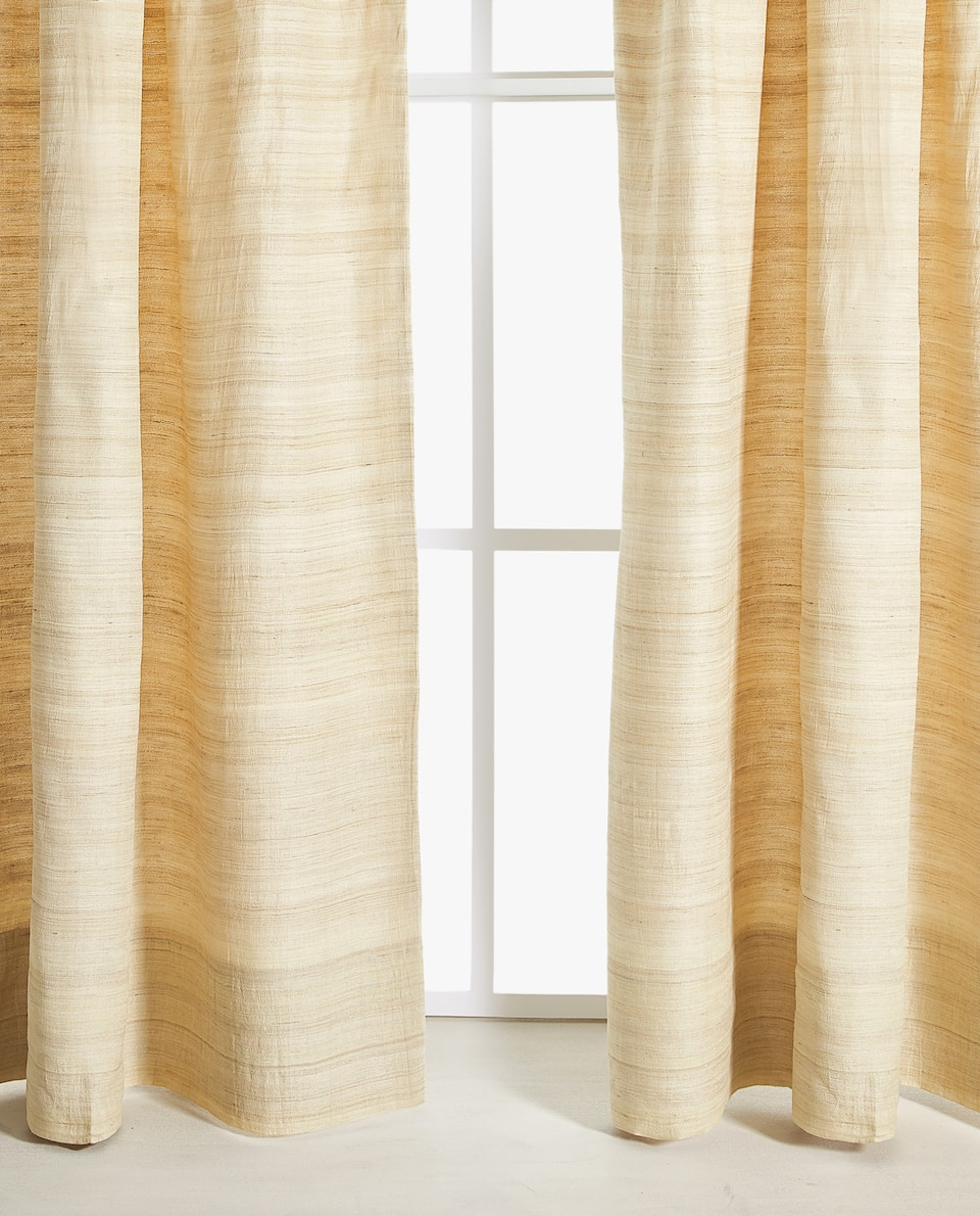 STRIPED SILK CURTAIN