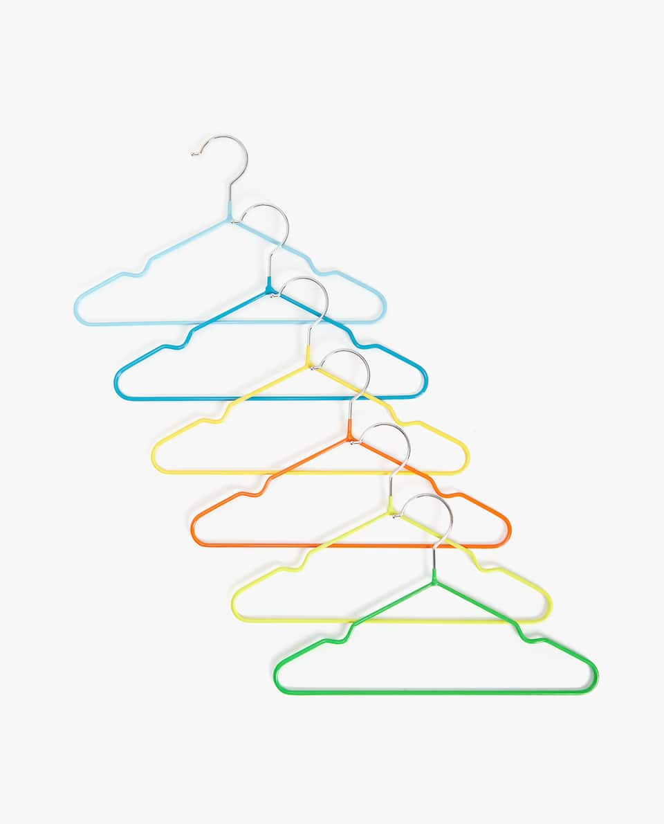 MULTICOLOURED RUBBER HANGER (SET OF 6)
