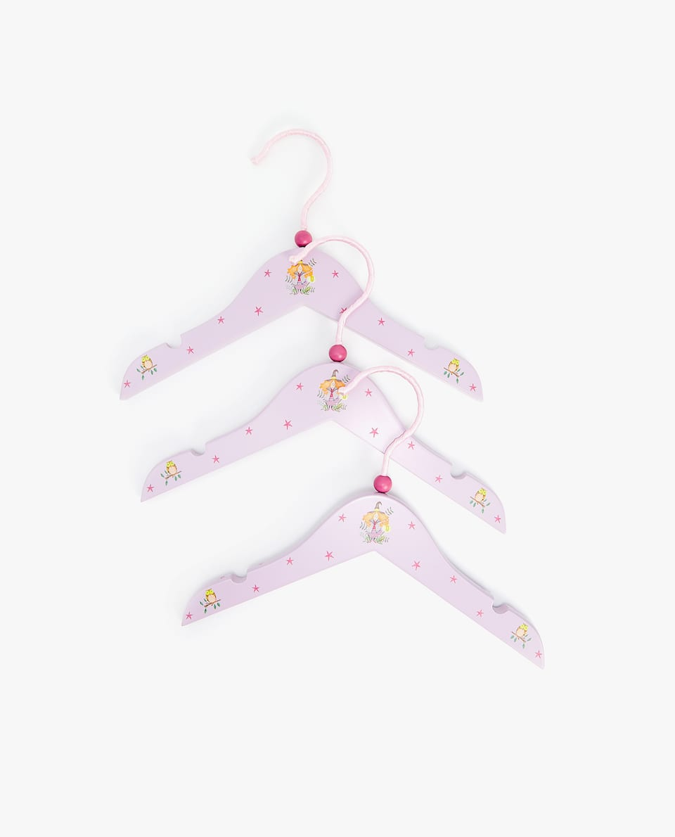 LITTLE WITCH PRINT WOODEN HANGER (SET OF 3)