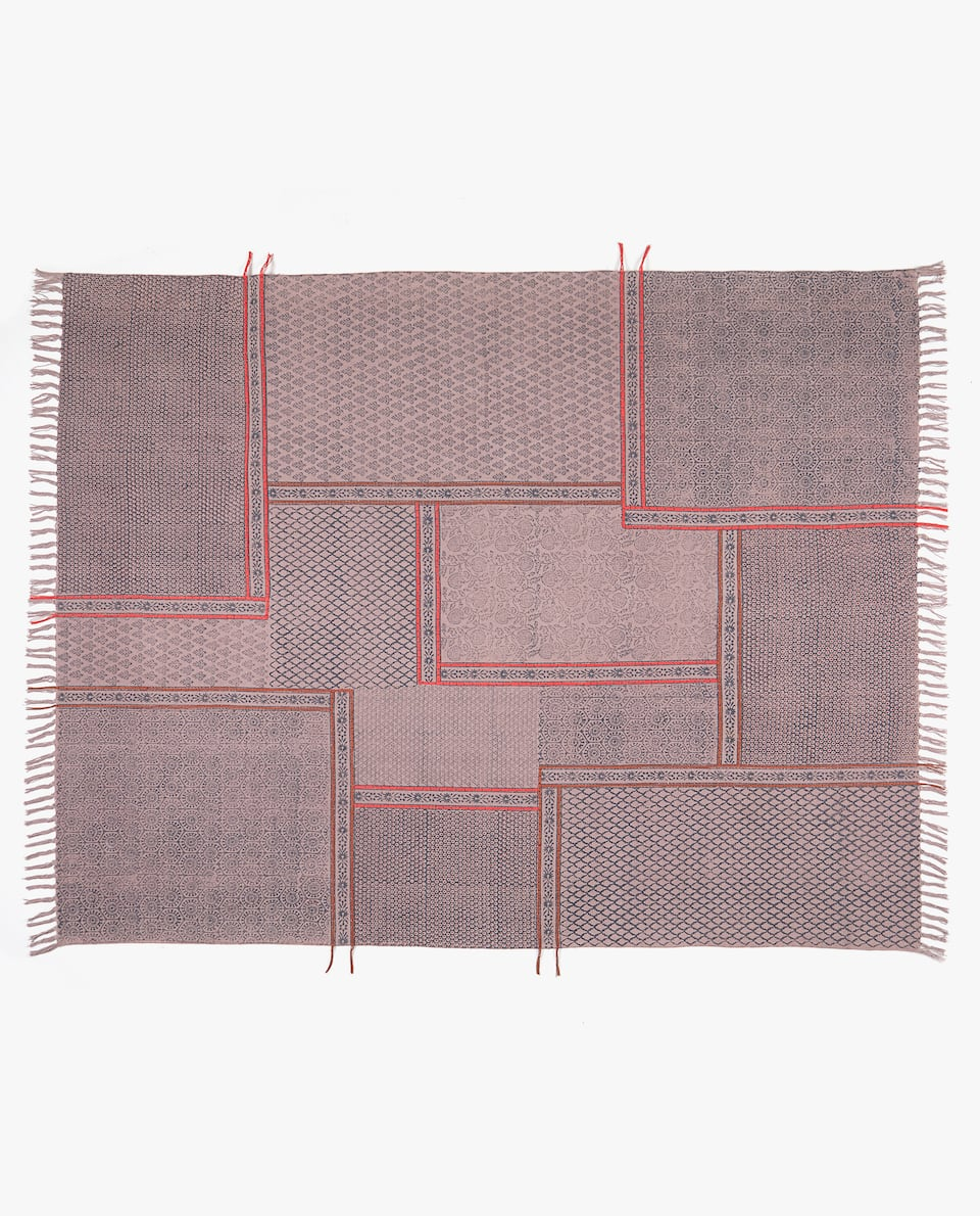 TAPIS BLOCK PRINT PATCH
