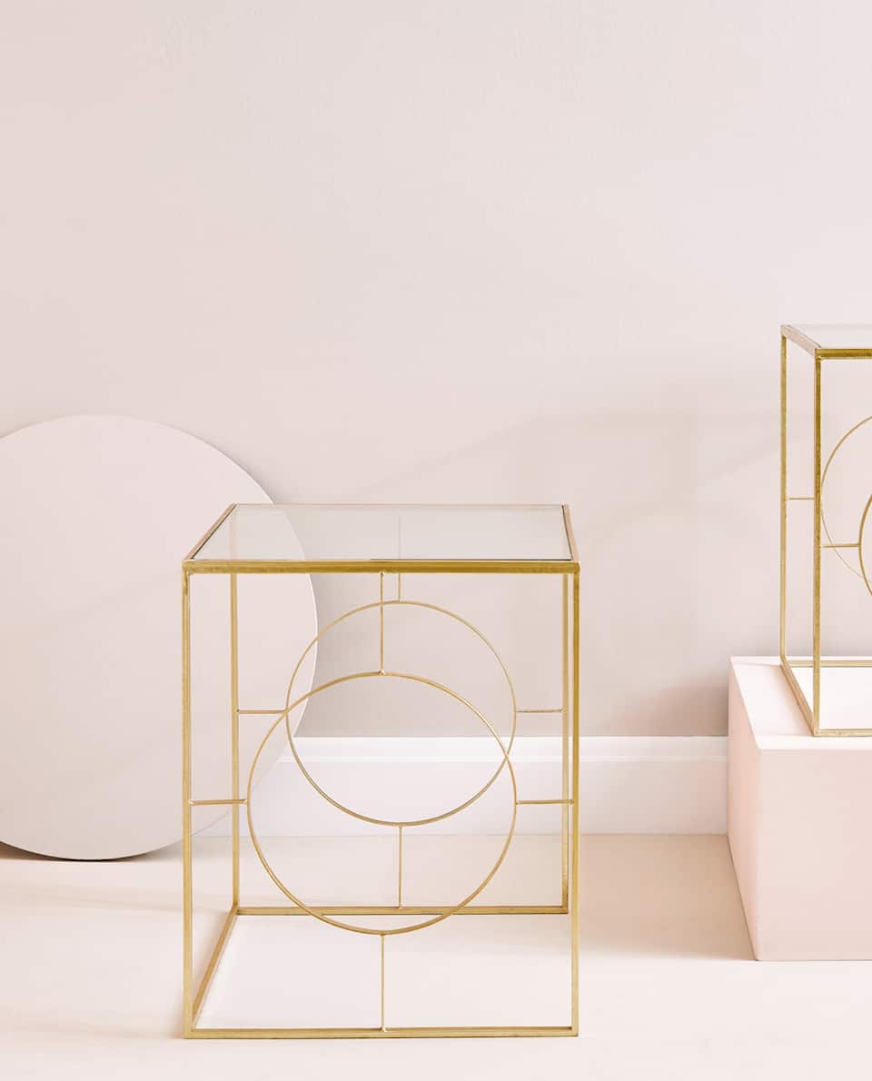 GOLD NEST OF TABLES (SET OF 2)
